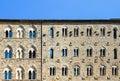 Palazzo Pretorio Facade, Volterra, Tuscany, Italy Royalty Free Stock Photo