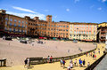 Palazzo Publico in Piazza del Campo & x28;Town hall& x29; of Siena, Tuscany, Italy Royalty Free Stock Photo