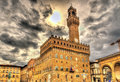 Palazzo Vecchio, the city hall of Florence Royalty Free Stock Photo