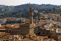 Palazzo Vecchio Florence View Royalty Free Stock Photo