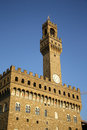 Palazzo Vecchio - Old Palace - in Florence (Italy) Royalty Free Stock Photo