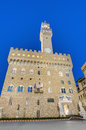 The Palazzo Vecchio, town hall of Florence, Italy. Royalty Free Stock Photo