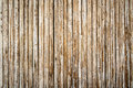 Pale bamboo fence. Royalty Free Stock Photo