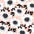 Pale color abstract rose flowers seamless pattern. Royalty Free Stock Photo