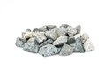 Pale of crushed stone isolated on white Royalty Free Stock Image