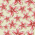 Pale floral background a seamlessly repeatable depicting sketchy flowers Royalty Free Stock Image