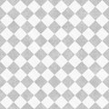 Pale gray and white diagonal checkers on textured fabric backgro grunge background that is seamless repeats Royalty Free Stock Photography