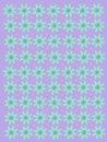 Pale Lilac Daisies and Dots Stock Image