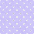 Pale Purple Fabric with Flowers Background Royalty Free Stock Images