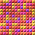 Pale pyramid tiles pattern Stock Photos