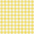 Pale Yellow Gingham Pattern Repeat Background Royalty Free Stock Photo