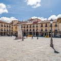 Urban landscape, main square of Palencia, Spain Royalty Free Stock Photo