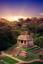 Palenque, Maya city in Chiapas, Mexico Royalty Free Stock Photo