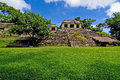 Palenque maya temple ruins in the jungel of Stock Photos