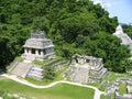 Palenque mayan ruins maya Chiapas Mexico Royalty Free Stock Photo