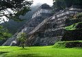 Palenque mayan temple ruins at in mexico Stock Images