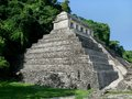 Palenque mayan temple ruins at in mexico Royalty Free Stock Photo
