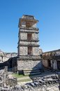 Palenque mexico the palace observation tower in chiapas Royalty Free Stock Photo