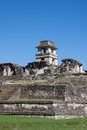 Palenque mexico the palace observation tower in chiapas Royalty Free Stock Photography