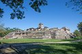 Palenque mexico the palace observation tower in chiapas Stock Photography
