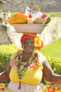 Palenquera woman cartagena colombia november sells fruit on november in cartagena colombia palenqueras are a unique african Royalty Free Stock Photo