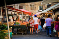 Palermo, Ballarò fruit market Royalty Free Stock Photo