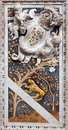 Palermo baroque relief in church chiesa di santa caterina build years april italy Stock Image