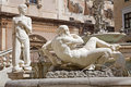 Palermo detail from florentine fountain on piazza pretoria Stock Photography