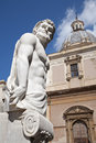 Palermo detail from florentine fountain on piazza pretoria Royalty Free Stock Photo