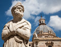 Palermo detail from florentine fountain on piazza pretoria statue Stock Photography