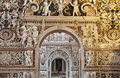 Palermo detail from side nave in church la chiesa del gesu or casa professa baroque was completed year on april Stock Photography