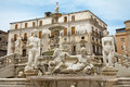 Palermo florentine fountain on piazza pretoria Royalty Free Stock Images