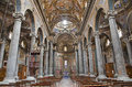 Palermo interior from baroque church of san giuseppe dei teatini april in italy Stock Photography