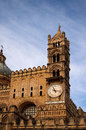PALERMO, ITALY–03 January 2017: Amazing clock tower. Palermo. Sicily