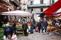 Palermo market italy october people shop at local on october in italy is the th most populated area in italy and Royalty Free Stock Photos