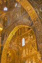 Palermo mosaic of cappella palatina palatine chapel in norman palace style byzantine architecture from years on april Royalty Free Stock Photo