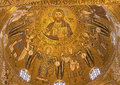 Palermo mosaic from cupola of cappella palatina palatine chapel in norman palace in style byzantine architecture years on Stock Image