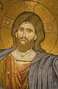 Palermo mosaic of jesus christ from main apse of monreale cathedral church is wonderful example norman architecture Royalty Free Stock Image