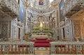 Palermo presbytery of baroque church chiesa di santa caterina build in years april in italy Royalty Free Stock Photos