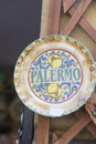 Palermo souvenir a decorative dish with the word written on it displayed as a in one of s shops Royalty Free Stock Photos