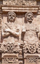 Palermo statues from porta nuova medieval gate to the historical town center Stock Images