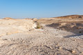 Palestine desert on the west bank of the jordan river Royalty Free Stock Photo