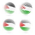 Palestine halftone flag set patriotic vector.