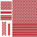 Palestine Keffieh red white seamless pattern Royalty Free Stock Photo