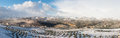 Palestine in winter view of west bank israel Stock Photo
