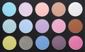 Palette of dry pastel color sh Royalty Free Stock Photo