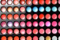 Palette of eye shadow close up the Stock Image