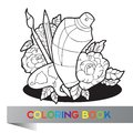 Palette with paint brushes and spray paint in roses coloring book vector Royalty Free Stock Photography