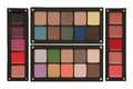 Palettes of lipstick rouge and eye shadow some Stock Photography