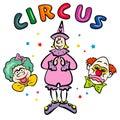 Palhaços de circo. JPG e EPS Fotografia de Stock Royalty Free